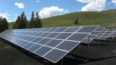 solar panel array power sun electricity 159397